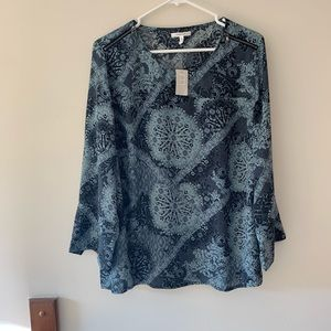 Maurice's printed flowy blouse size 1 plus